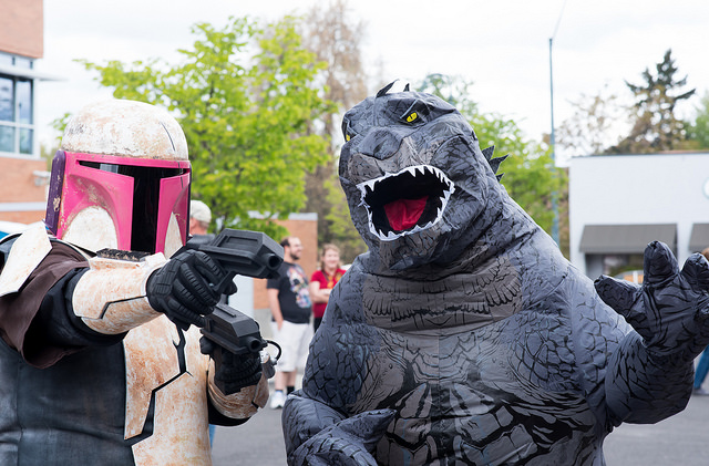 Locals dressed up for the 2018 Medford Comic-Con