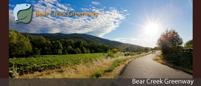 One of the easiest hikes near Medford Oregon is to walk along the bear creek greenway